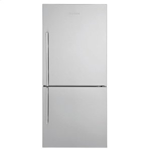 "Blomberg Appliances30"" Bottom Freezer/Fridge 18 cu ft, wrapped stainless doors, stainless handles, right hinge"