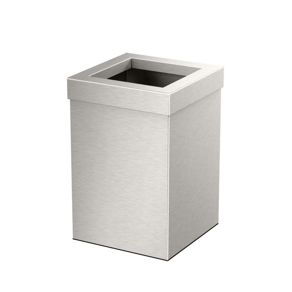 Square Modern Waste Can in Satin Nickel  SATIN NICKEL