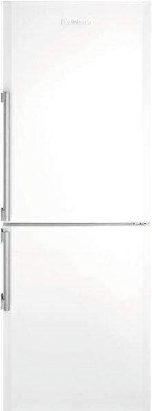 """24"""" Bottom Freezer/Fridge 10,4 cuft, white doors, stainless handles, Led Illumination"""