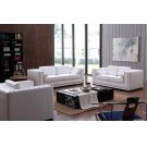Divani Casa Dublin Modern White Leather Sofa Set w/ Buttons Product Image