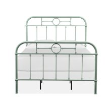 Complete Full Metal Bed - Green