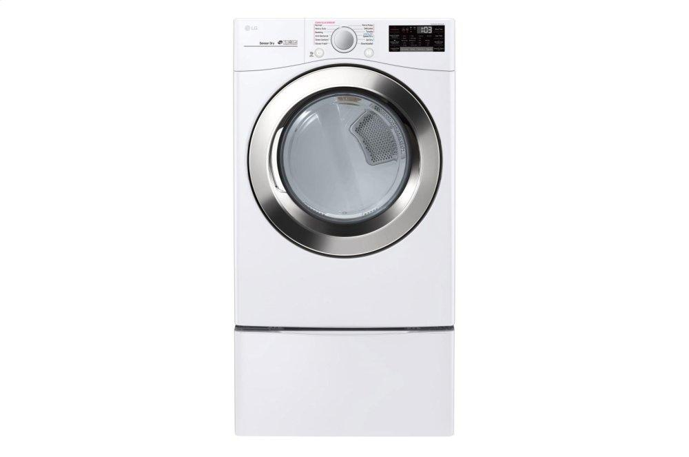 7.4 cu. ft. Ultra Large Capacity Smart wi-fi Enabled SteamDryer  SMOOTH WHITE