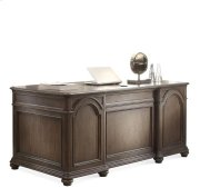 Belmeade Executive Desk Old World Oak finish Product Image