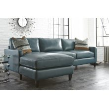 "St.Croix Lef Arm Chaise 37""x64""x36"" w/One Accent Pillow"