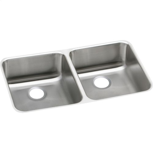 "Elkay Lustertone Classic Stainless Steel 31-3/4"" x 16-1/2"" x 4-7/8"", Equal Double Bowl Undermount ADA Sink"