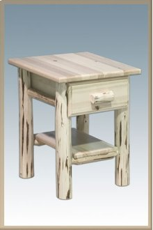 Montana Log Nightstand with Drawer