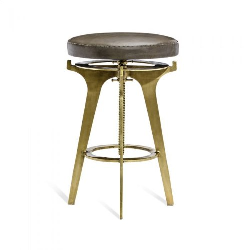 Colton Adjustable Stool - Brass