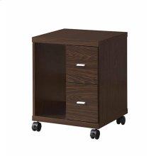 Contemporary Medium Oak Cpu Stand