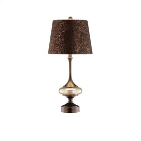Slender Metal / Glass Accent Lamp