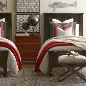 Twin/Dark Molasses Wakefield Panel Bed