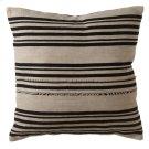 Vintage Black Stripe Fringed Pillow. Product Image
