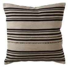 Vintage Black Stripe Fringed Pillow.
