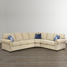 Custom Upholstery Large L-Shaped Sectional