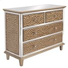 Hammered Cabinet with Mirrored Trim Product Image