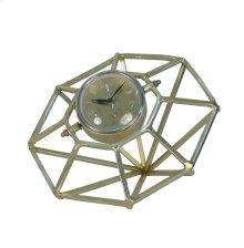 "Adjustable Gold Metal Clock 12"""