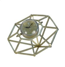 Adjustable Gold Metal Clock 12""