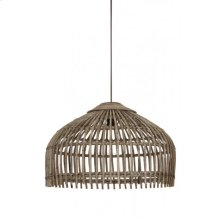 Hanging lamp 60x40 cm ASCELLI rattan grey