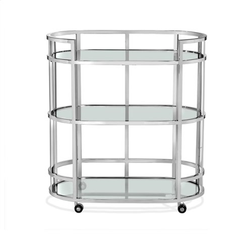 Hayden Bar Cart - Nickel