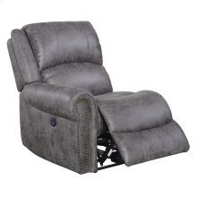 Lsf Power Recliner W/usb Outlet-pu Charcoal