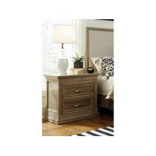 2-Drawer Nighstand w/ pull out tray in Taupe Gray