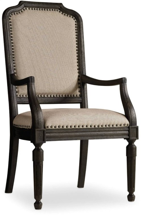 Corsica Dark Upholstered Arm Chair