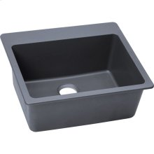 "Elkay Quartz Classic 25"" x 22"" x 9-1/2"", Single Bowl Drop-in Sink, Dusk Gray"