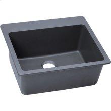 "Elkay Quartz Classic 25"" x 22"" x 9-1/2"", Single Bowl Drop-in Sink, Dusk Gray"