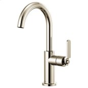 Bar Faucet With Arc Spout and Industrial Handle