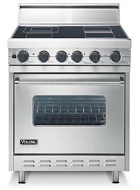"Metallic Silver 30"" Electric Range - VESC (30"" wide range with single oven)"