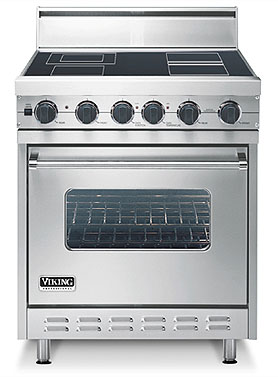 """Oyster Gray 30"""" Electric Range - VESC (30"""" wide range with single oven)"""