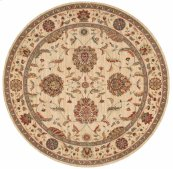 Living Treasures Li04 Iv Round Rug 7'10'' X 7'10''