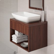 Jasmine Rectangular Above-counter Vitreous China Bathroom Sink