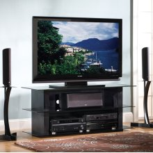 AVSC2055B Black Wood Grain Finish Flat Panel A/V System for most Flat Panel TVs up to 55 inches from Bell'O International Corp.