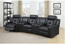 Black Leather Power Chair