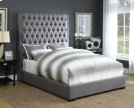 Camille Upholstered Queen Bed (Grey) Product Image