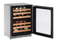 """2000 Series 24"""" Wine Captain® Model With Integrated Frame Finish and Field Reversible Door Swing"""