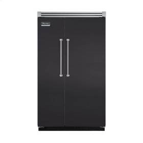 "Graphite Gray 48"" Quiet Cool™ Side-by-Side Refrigerator/Freezer - VISB Tru-Flush™ (48"" wide)"