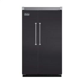 "Graphite Gray 48"" Quiet Cool™ Side-by-Side Refrigerator/Freezer - VISB Tru-Flush™ (48"" wide)"
