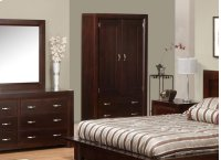 Contempo 2 Drawer 2 Door Armoire w/2 Shelves Product Image