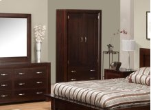 Contempo 2 Drawer 2 Door Armoire w/2 Shelves