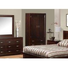 Contempo 2 Drawer 2 Door Armoire w/2 Shelves