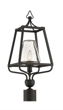 Libby Langdon for Crystorama Sylvan 1 Light Black Forged Small Post