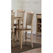 DLU-BR-B70-PW-2  Fancy Slat Barstool  Set of 2
