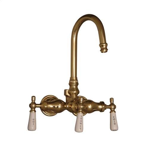 Wall Mount Clawfoot Tub Filler for Acrylic Tub - Polished Brass