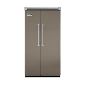 """Stone Gray 42"""" Side-by-Side Refrigerator/Freezer - VISB (Integrated Installation)"""