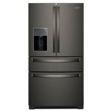 Whirlpool® 36-inch Wide 4-Door Refrigerator with Exterior Drawer - 26 cu. ft. - Black Stainless