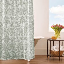 Kate Shower Curtain, PEWTER, ONE