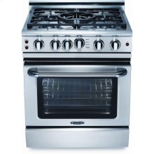 "30"" 4 Burner w/Power-Wok Gas Self-Clean Convection Range - NG"