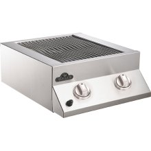 Built-In Flat Top Grill Head Stainless Steel Dual Burner