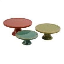 Reyes Pedestal Cake Plates - Set of 3
